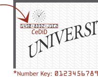 Screenshot showing location of the 12-digit CeDID (id number for certified electronic diploma)