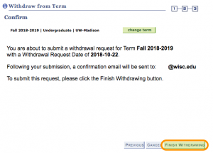 How to: withdraw from the current term – Office of the